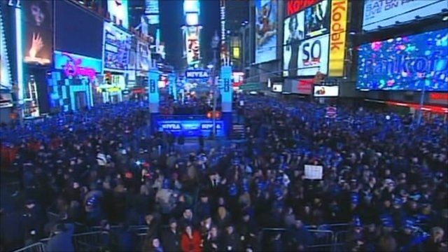 Crowds in Times Square, New York