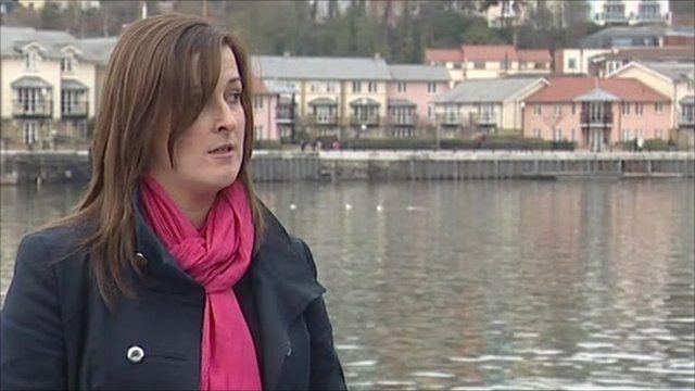 Det Const Emma Davies reads the statement at Bristol docks