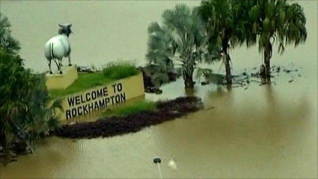 Flooding in Rockhampton, Australia