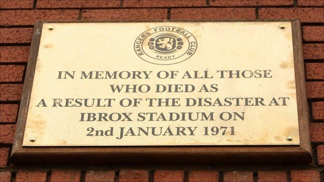 Ibrox disaster memorial plaque