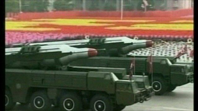 North Korean tanks on display