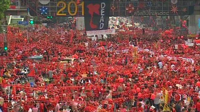 Red shirt protesters in 2010