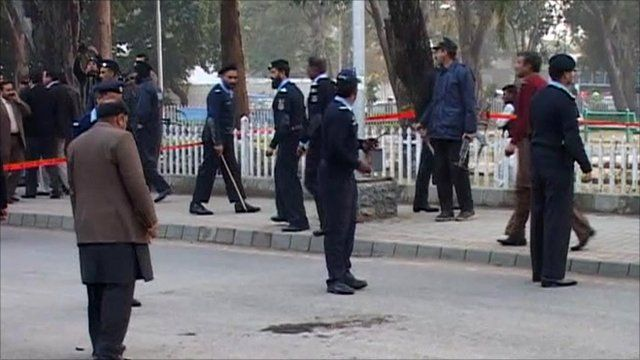 Scene of Pakistan shooting