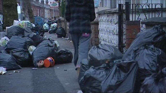 Rubbish in street