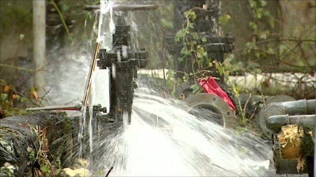 Burst water pipe