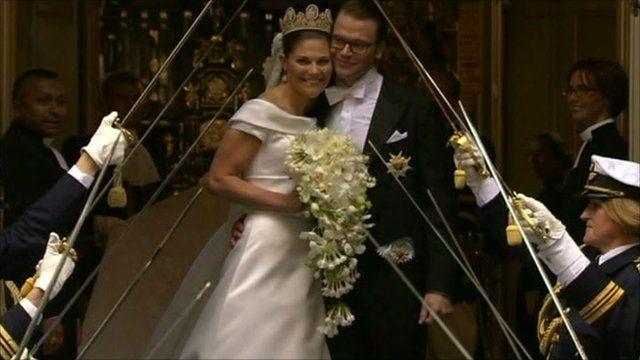 Sweden's Crown Princess Victoria and her husband Daniel Westling