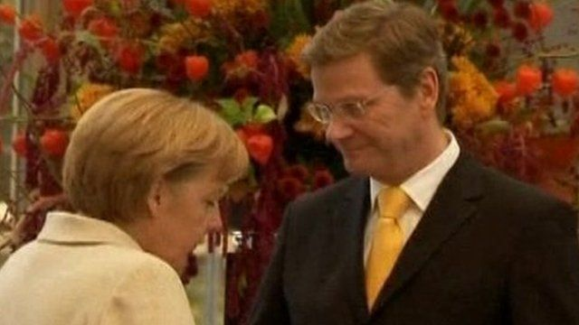 Angela Merkel and Guido Westerwelle