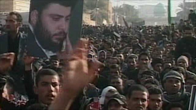 Moqtada Sadr supporters