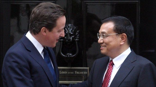 Prime Minister David Cameron (left) with Vice Premier of China Li Keqiang