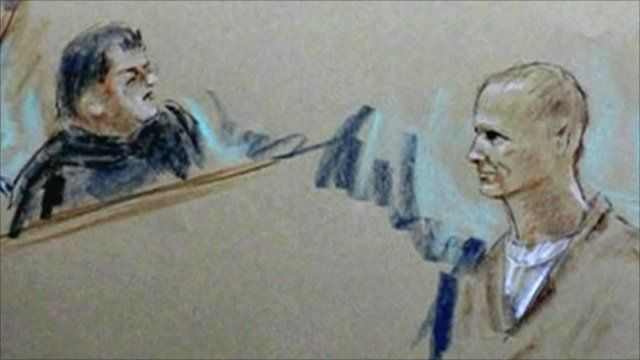 Court drawing of Jared Loughner