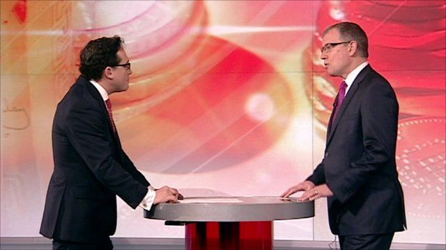 The BBC's Simon Jack and Kevin Green of the Recruitment and Employment Confederation