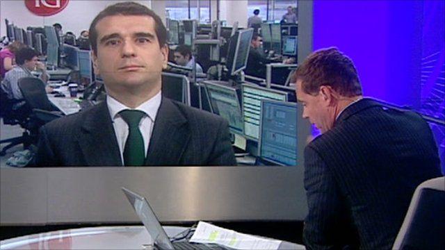 Nuno Serafin of IG Index speaks to the BBC's Aaron Heslehurst