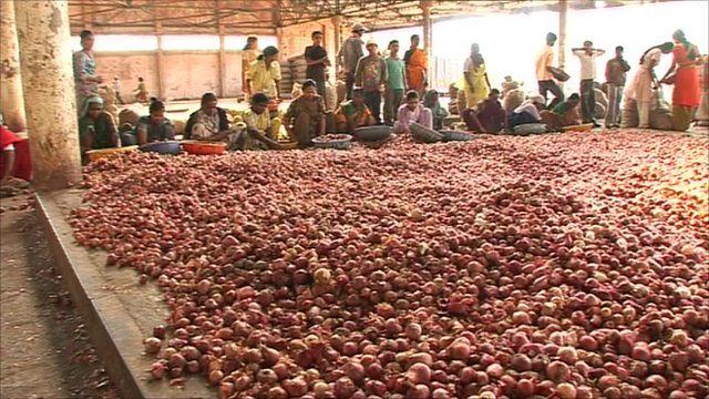 Onion market in India