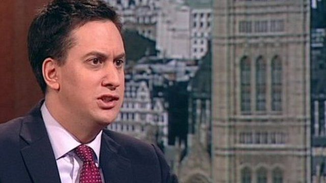 Labour leader Ed Miliband on the Andrew Marr Show