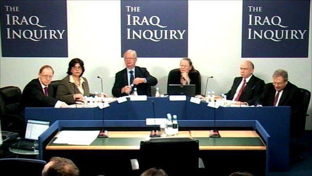Panel at the Iraq inquiry