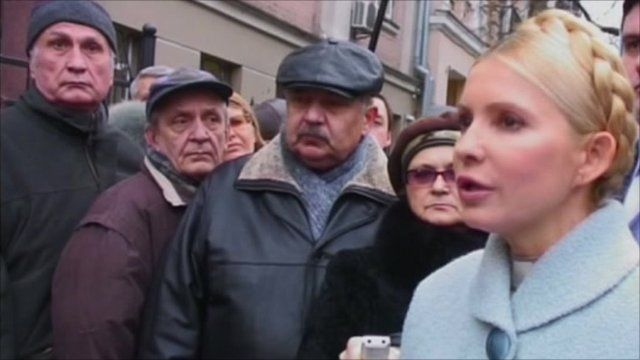 Ukrainian opposition leader, Yulia Tymoshenko who was charged with corruption