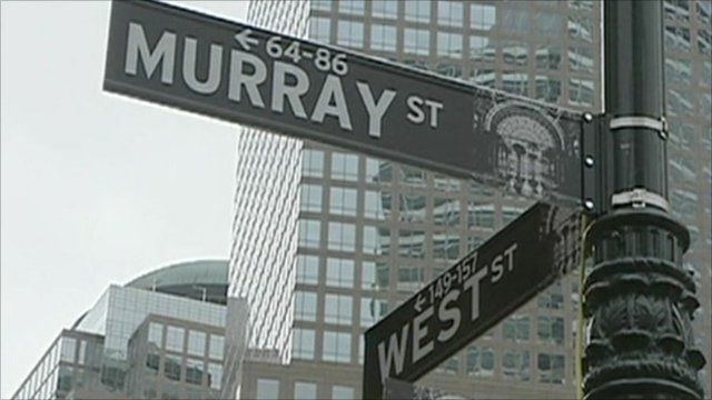 Street sign outside Goldman Sachs offices