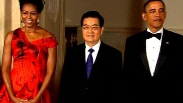 Michelle Obama, Hu Jintao, Barack Obama