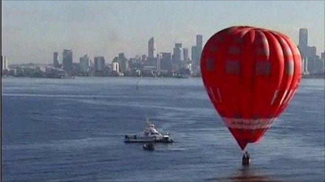 Emergency landing for hot air balloon