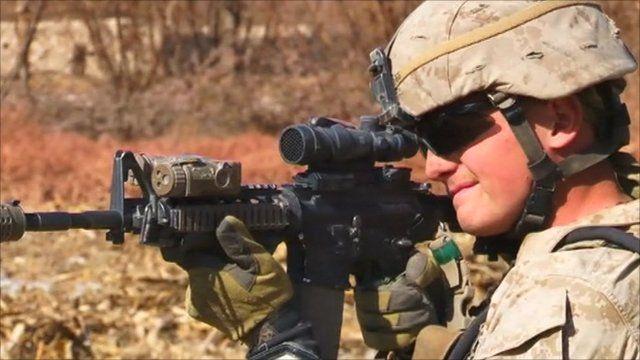 US soldier in Sangin