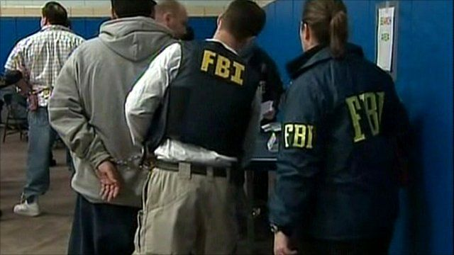 FBI officers make arrests
