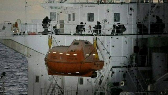South Koreans commandos storm the Samho Jewelry in the Arabian Sea.