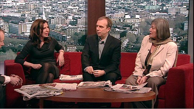 Amanda Platell, Peter Hitchens and Claire Short