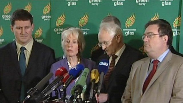 Green Party members said they could no longer continue in government