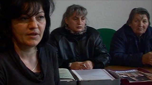 Silvana Marinkovic ( far left) says her husband Goran was kidnapped