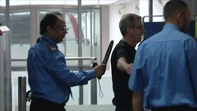 Library pictures of airport security