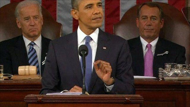 President Barack Obama (centre)