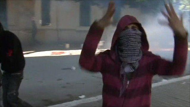 Tunisian protester