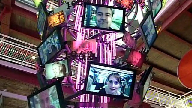 'Digital chandelier' in Manchester's Museum of Science and Industry