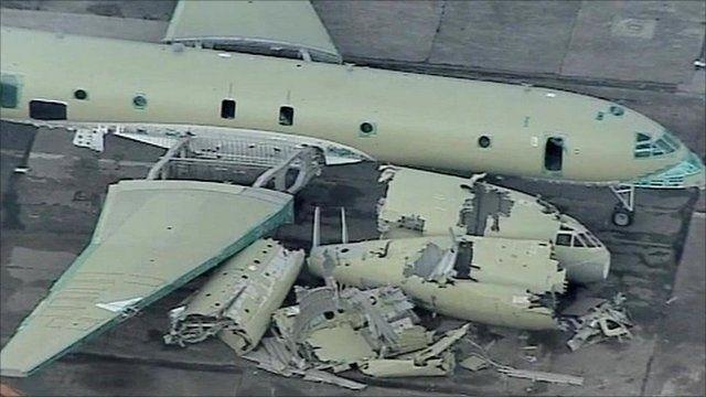 Diggers begin scrapping the aircraft