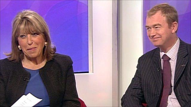 Eve Pollard and Tim Farron