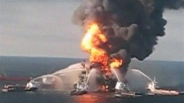 Gulf of Mexico platform explosion, April 2010