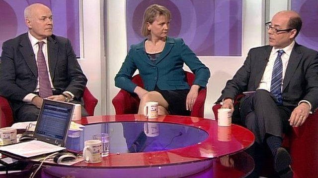Iain Duncan Smith, Yvette Cooper and Nick Robinson