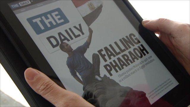 The Daily on an iPad