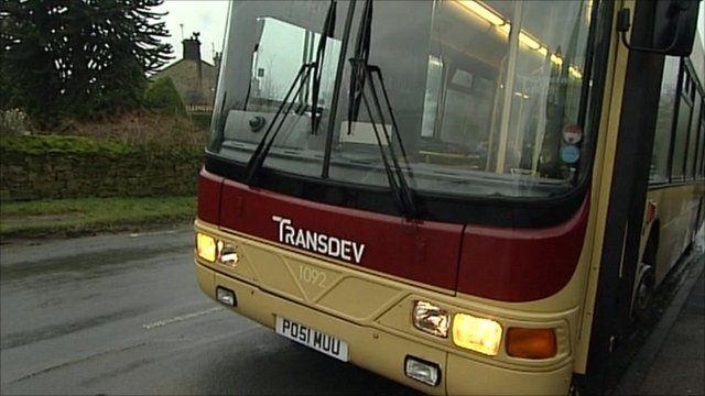 Bus in rural Yorkshire