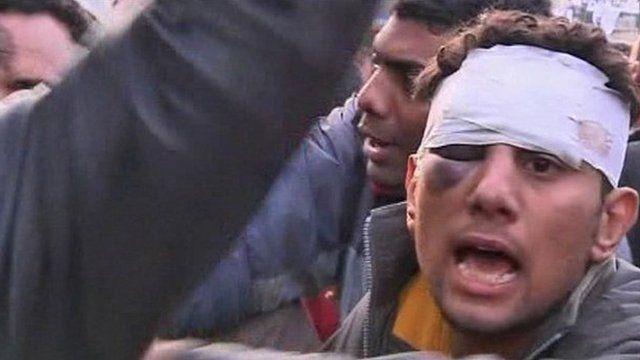 Protester in Cairo