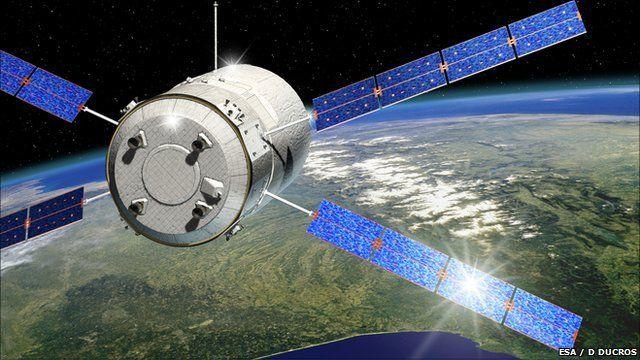 Artist's impression of ATV-2 Johannes Kepler over France
