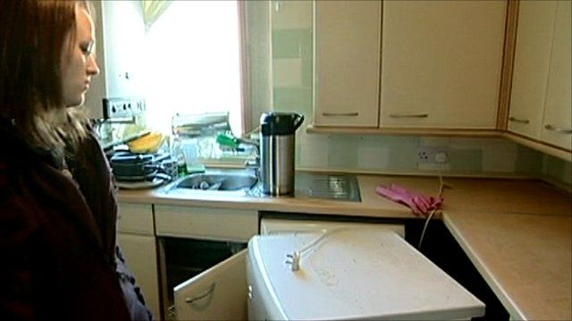 Tenant Tracy Pemberton in her kitchen