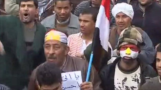 Protesters in Tahir Square