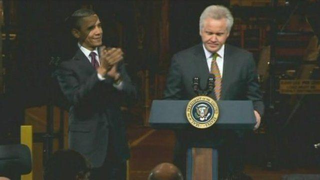 Obama with Jeffery Immelt