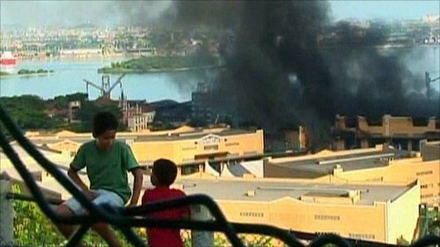 Children watching the fire