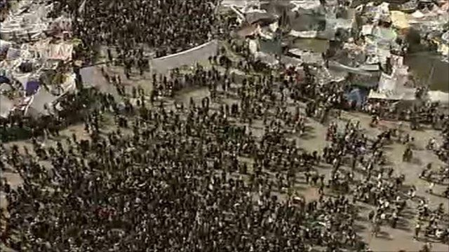 Protesters at Tahrir Square in Cairo