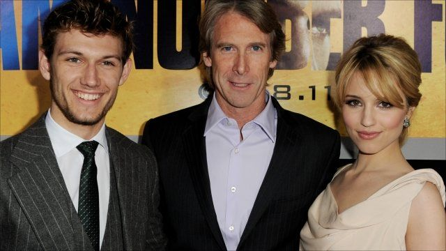 Actor Alex Pettyfer, producer Michael Bay and actress Dianna Agron