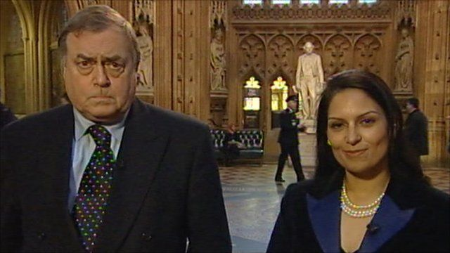 Lord Prescott and Priti Patel
