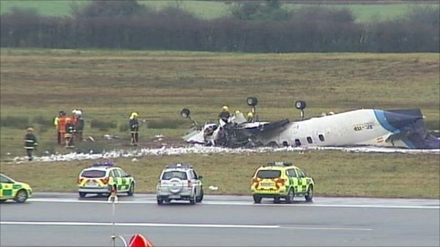 The scene of the plane crash