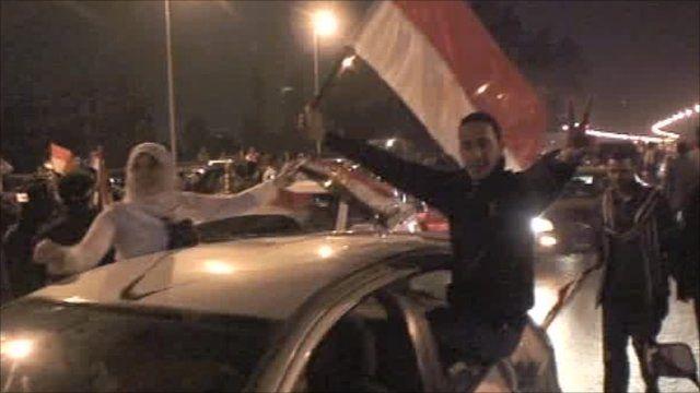 Egyptians celebrate